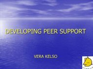 DEVELOPING PEER SUPPORT - Health Promotion Agency