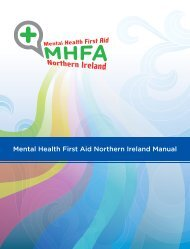 MHFA Northern Ireland Manual - Health Promotion Agency