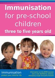 For Pre-school Children - Health Promotion Agency