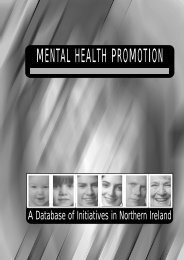 MENTAL HEALTH PROMOTION - Health Promotion Agency