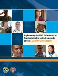 Progress Report - VA/DoD Clinical Practice Guidelines Home