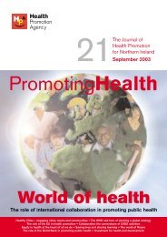 Journal 21 - Health Promotion Agency