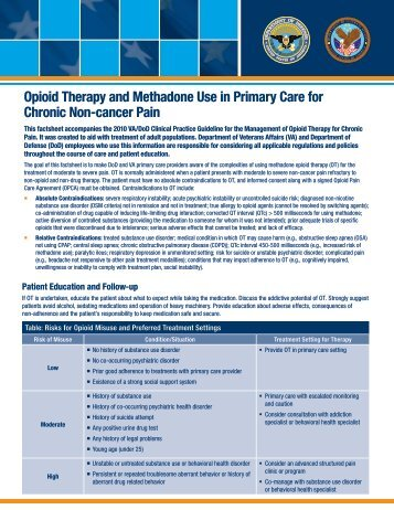 Opioid Therapy and Methadone Use in Primary Care for Chronic ...