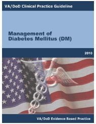 DM Full Guideline (2010) - VA/DoD Clinical Practice Guidelines Home