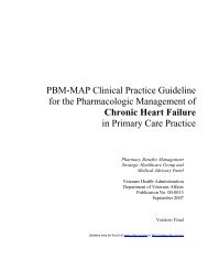 the pharmacologic management of chronic heart failure - VA/DoD ...