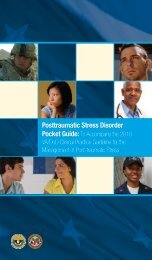 PTSD Pocket Guide - VA/DoD Clinical Practice Guidelines Home