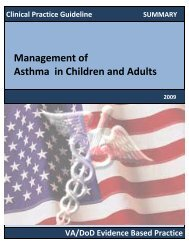 Management of Asthma in Children and Adults - VA/DoD Clinical ...
