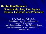 Controlling Diabetes - Oklahoma State University Center for Health ...