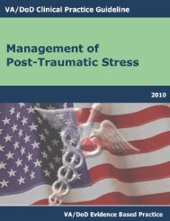 VA/DoD CLINICAL PRACTICE GUIDELIN-PTSD
