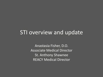 STI overview and update - Oklahoma State University Center for ...