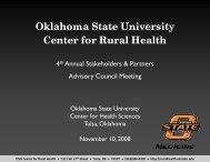 Oklahoma State University Center for Rural Health