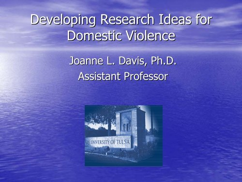domestic violence research topics