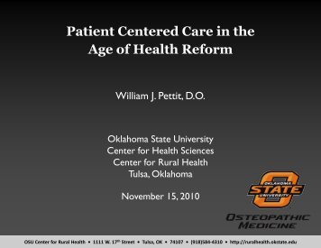 Patient Centered Care in the Age of Health Reform