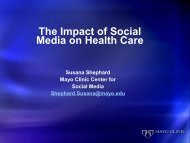 The Impact of Social Media on Healthcare - HealthSmart