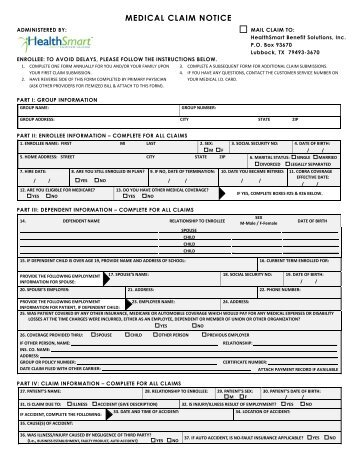 Group Medical Direct Claim Form