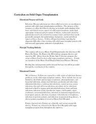 Solid Organ Transplantation Rotation - HealthTeam