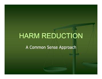 Harm Reduction Presentation