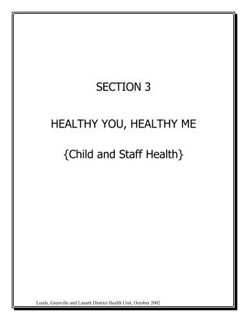 SECTION 3 HEALTHY YOU, HEALTHY ME - Leeds, Grenville and ...