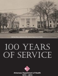 100 Years of Public Health Booklet - Arkansas Department of Health ...