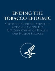 Ending The Tobacco Epidemic - Tobacco Control Strategic Action ...
