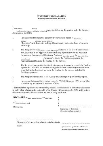 Sample statutory declaration for guidance purposes pdf 15kbsLegal Declaration Template  legal statement template 7 free word  . Florida Statute Living Will Form. Home Design Ideas