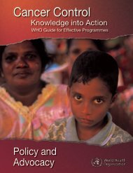Policy and Advocacy - Cancer Control Knowledge into Action WHO ...