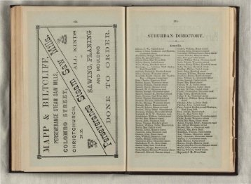 Christchurch and suburban directory for 1879 : comprising an ...