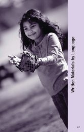 Written Materials by Language - California Healthy Families