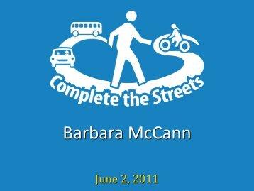 Barbara McCann, Executive Director, National Complete Streets ...