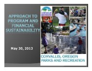 James Mellein, Osborn Aquatics Supervisor, City of Corvallis Parks ...
