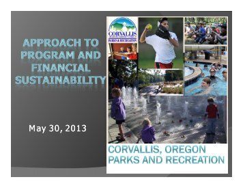 James Mellein, Osborn Aquatics Supervisor, City of Corvallis Parks ...
