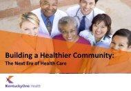 Alice Bridges, Vice President, Healthy Communities, KentuckyOne ...