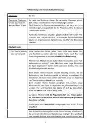 1 Hilfestellung zum Kurzaufsatz (Erörterung ... - Bundespolizei