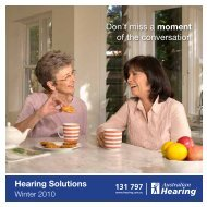 Don't miss a moment of the conversation - Australian Hearing