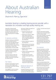 NEW Fact Sheet About Australian Hearing.indd