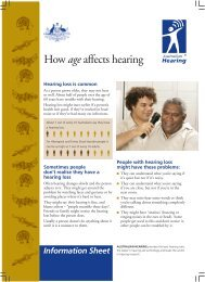 How age affects hearing - Australian Hearing