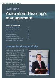 PART FIVE: Australian Hearing's management