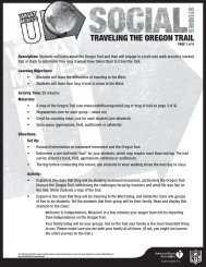 TRAVELING THE OREGON TRAIL - American Heart Association