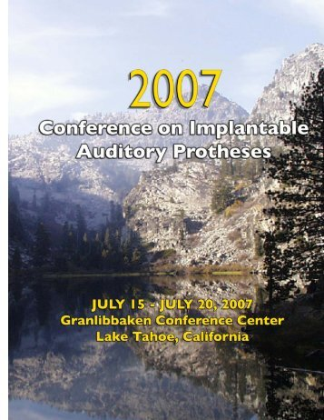 2007 Conference on Implantable Auditory Prostheses Program ...