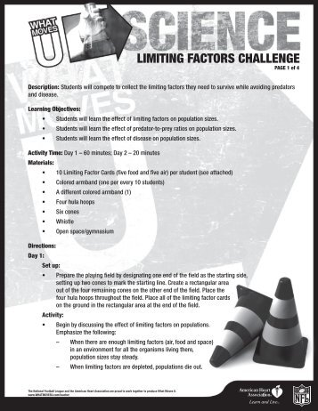 LIMITING FACTORS CHALLENGE - American Heart Association