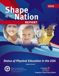 2010 Shape of the Nation Report - American Heart Association