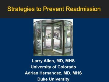 Strategies to Prevent Readmission - American Heart Association