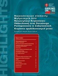 Najważniejsze elementy Wytycznych 2010 Resuscytacji Krążeniowo ...