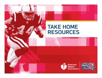 TAKE HOME RESOURCES - American Heart Association