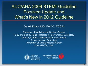 What's New in 2012 Guideline - American Heart Association