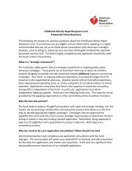 FAQ to help you understand the fund further - American Heart ...