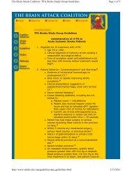 TPA Stroke Study Group Guidelines - American Heart Association