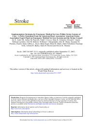 2007 EMS Stroke Recommendations - American Heart Association
