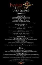 Appetizers Salads Mother McGintey's Room - Heart & Crown Irish ...