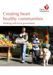 New local government resource: Creating heart healthy communities